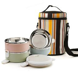 1/2/3/4 Layers Stainless Steel Lunch Box Bento Thermal Insul