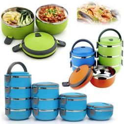 US Bento Box Stainless Steel Thermal Insulated Lunch Food Co