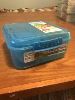 SISTEMA 1.25L Bento Cube Blue Lunch Meal On The Go School Wo