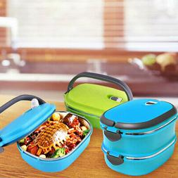 1.8L Stainless Steel Thermal Insulated Lunch Box Bento Food