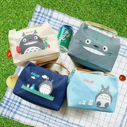 1 Totoro Thermal Insulated Lunch Box Storage Bag Bento Pouch