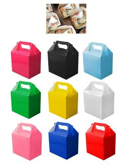 10 Childrens Kids Party Lunch Boxes Colour Birthday Wedding