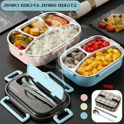 1000/1200ML Stainless Steel Thermal Insulated Lunch Box Bent