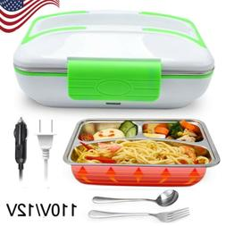 12V/110V Portable Electric Heating Lunch Box Food Heater Ben