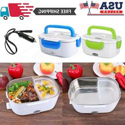Portable 12V Car Electric Heating Lunch Box Food Heater Bent