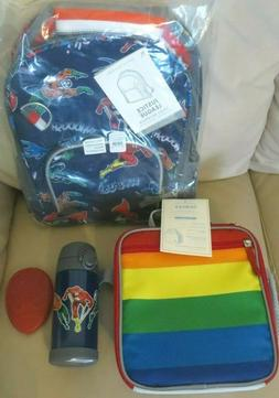 $132 Pottery barn Justice league Backpack+water bottle+ Lunc