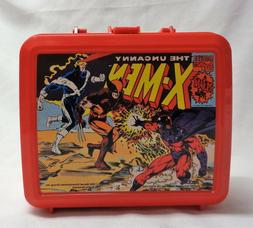 1992 Marvel Comics X-Men Lunch Box Plastic Lunchbox Thermos