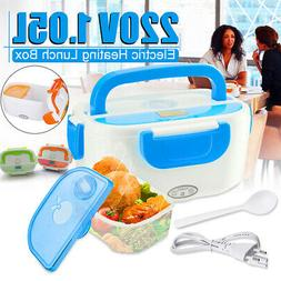 1L 220V Portable Car Electric Heated Heating Lunch Box Bento