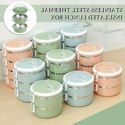 2/3/4 Layer Stainless Steel Insulation Thermal Lunch Box Foo