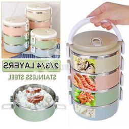 2/3/4 Layers Stainless Steel Thermal Insulated Lunch Box Ben