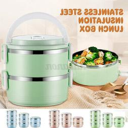 2/3/4Layers Stainless Steel Lunch Box Insulation Thermal Foo