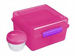 - Sistema Lunch Cube Max with Yoghurt Pot,