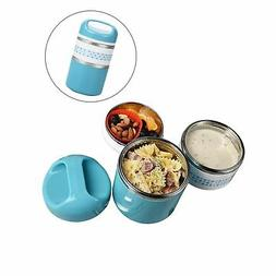 2 Layers Stainless Steel Lunch Containers with Handle, Insul