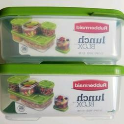 2 New Rubbermaid LunchBlox Sandwich Container BPA Free Leakp