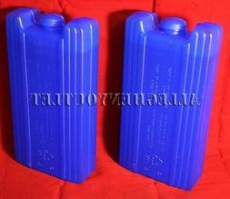 2 REUSABLE ICE PACKS Freezer Bag Ice Blocks Lunch Box Cooler