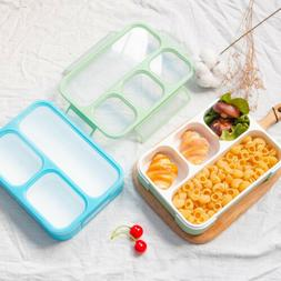 3 4 Grid 1000ML Lunch Box Leakproof Container W/ Spoon for K