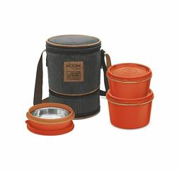 3 Containers MILTON FLEXI Stainless Steel Insulated Tiffin /