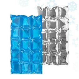 - Flexible Reusable Ice Cooler Freezer Pack Cubes Lunch Box