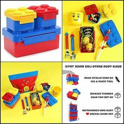 3 pcs LEGO Brick Lunch Box container set for kids school lun