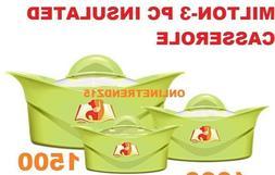 Milton 3 Piece Hot Pot Insulated Casserole Hot Pack Food War