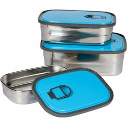 3 STAINLESS STEEL VACUUM LUNCH BOX Insulated Jar Food Contai