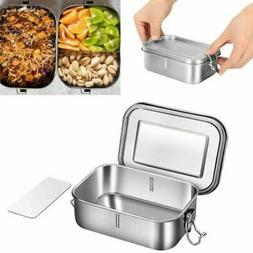 304 Stainless Steel Lunch Box Bento Box 800ml with Removable
