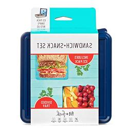 Fit & Fresh 334FF Set, Reusable Food Container for Sandwich