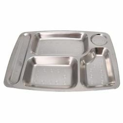 4/5/6 Divided Stainless Steel Kids Snack Tray Food Portion L