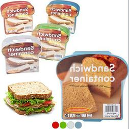 4 Pack Sandwich Container Lunch Box Packer Fresh Reusable Fo