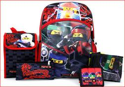 5 pcs ninjago movie 16 backpack lunch