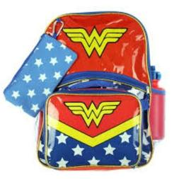 Wonder Woman 5-Piece Backpack Set with Lunch bag lunchbox Wa