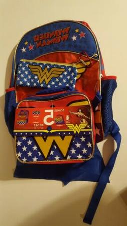 Wonder Woman 5-Piece Backpack Set with Lunchbox - MISSING WA