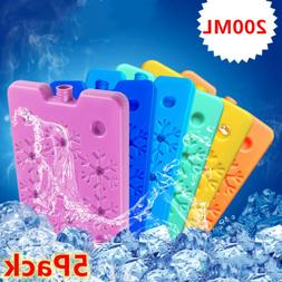 5PC 200ml Ice Freezer Packs Lunch Box Cooler Reusable Cool R