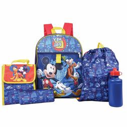 Disney Mickey Mouse Boys School Backpack Lunch Box Book Bag