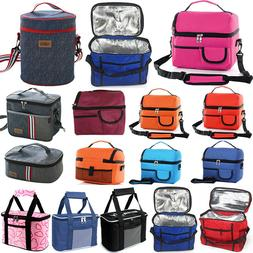 Insulated Lunch Bag For Women Men Kids Thermos Cooler Tote P
