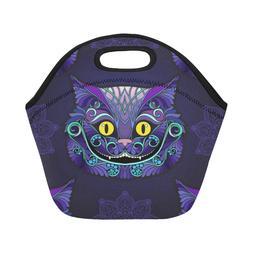 Adults & Kids Custom Neoprene Lunch Bag Cheshire Cat Insulat