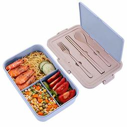 Adults Kids Bento Lunch Box Container With 3 Compartments Sp