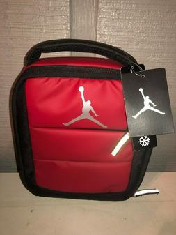 NIKE AIR JORDAN JUMPMAN Red/Black Lunch Box Tote Bag New Wit