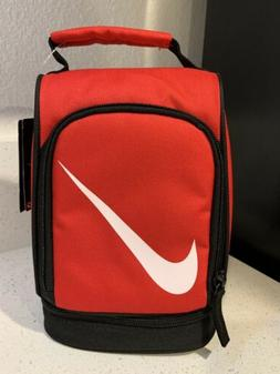 Nike Air Red Kids Small Lunch Box Tote School Bag 2 Compartm