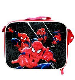 Marvel Amazing Spiderman Kids Black & Red School Lunch Box/B