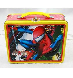 Amazing Spiderman Square Lunch Tin Box By Marvel For Boys/Ki