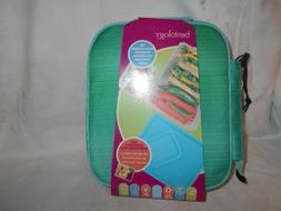 Bentology Aqua Lunch Bag Set Includes Insulated Bag, Contain