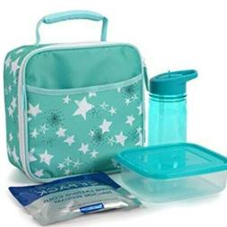 Artic Zone Insulated Microban Easy Clean Lunch Star Design B