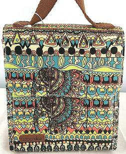 Sakroots Artist Circle Lunch Bag by One World NWT Elephant P