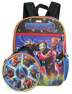 Marvel Avengers Boys School Backpack Lunch Box SET Book Bag