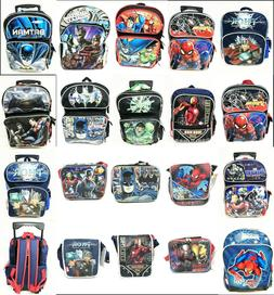 Marvel Comics Backpacks, Rolling Backpacks, Lunch Boxes. All