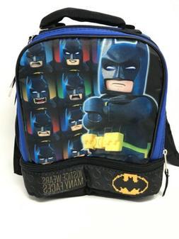 "Lego Batman 9.5"" Dual Compartment Lunch Bag w/ Detachable Ca"