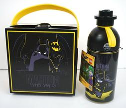 LEGO Batman Hydrating 500ML Bottle Lunch Box Set Black Yello