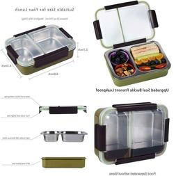 Bento Box 2 Compartments Stainless Steel Lunch Box For S And