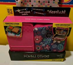 Bento Fit & Fresh Lunch Box BPA FREE Brand New Flower Print